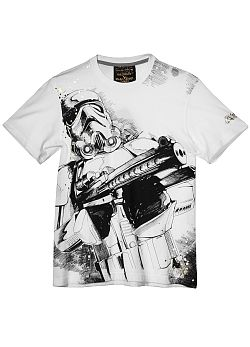 Star Wars Storm Trooper Sketch T-Shirt By Marc Ekco (Bleach White) $28.00
