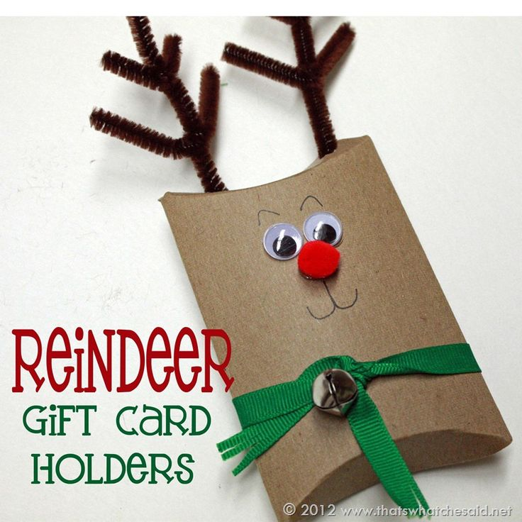 Rudoph the red-nosed reindeer…you should all be happy you are just reading that and I'm not actually singing it!  I am so excited to share these reindeer gift card holders with you today!  As kids get older, they don't ask for toys or things you can wrap…they ask for gift cards!   What do you get …