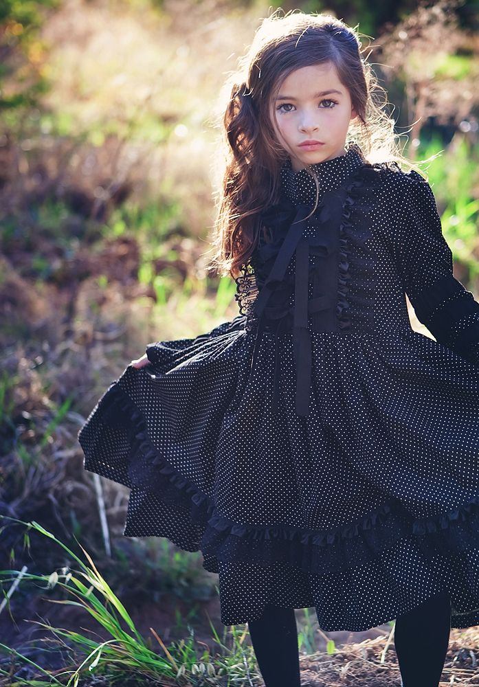 ...: Little Things, Ravens Collection, All Black, Kids Fashion, Beautiful Little Girls, Adorable, Victorian Dresses, Whimsical Dresses, Black Victorian