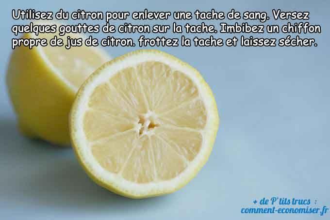Du citron pour les taches de sang
