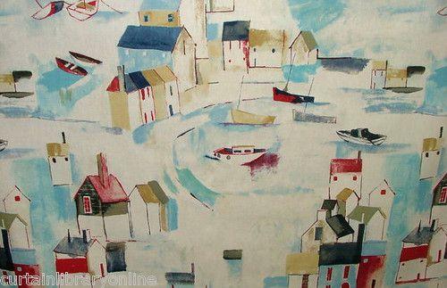 Prestigious St Ives Cobalt Seaside Shabby Chic Curtain Upholstery Fabric £9.99 m | eBay