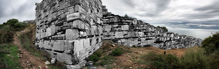 The remaining of the external wall of the city