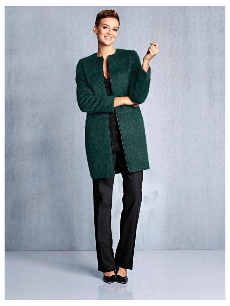 Manteau court vert sapin