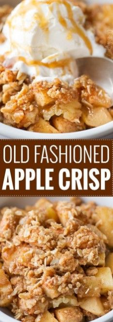 OLD FASHIONED EASY APPLE CRISP – Top cooking