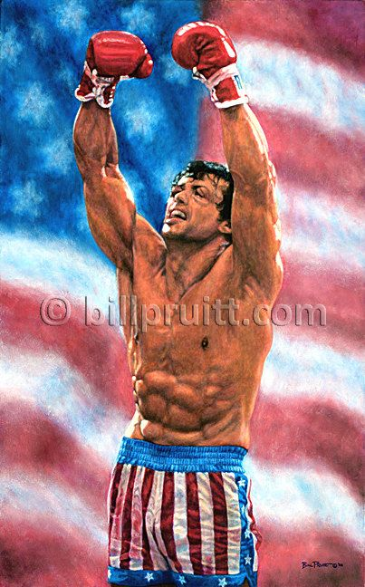 Sylvester Stallone Rocky Balboa Rocky 4 art print by billpruittart #RockyBalboa #Rocky4Victory