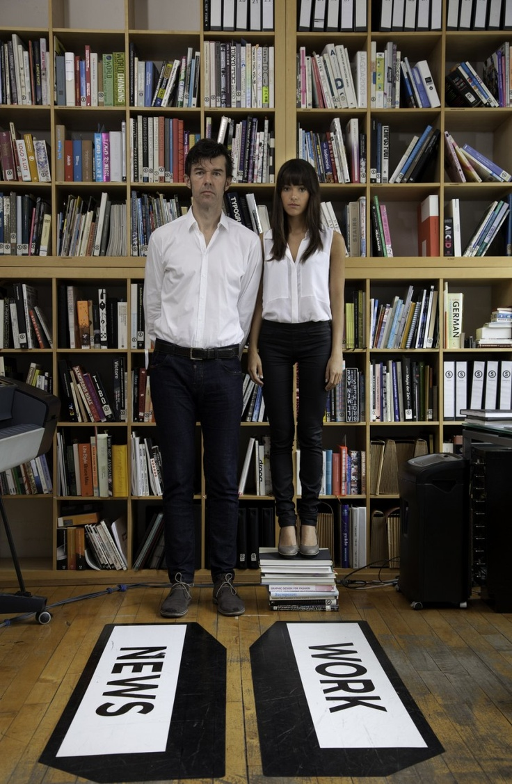 Next to Jessica Walsh's left shoulder not 1 but 2 copies of FL@33's The 3D Type Book http://www.3d-type.com – Stefan Sagmeister also contributed to the book of course. 8)