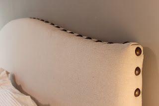 DIY Drop Cloth Headboard