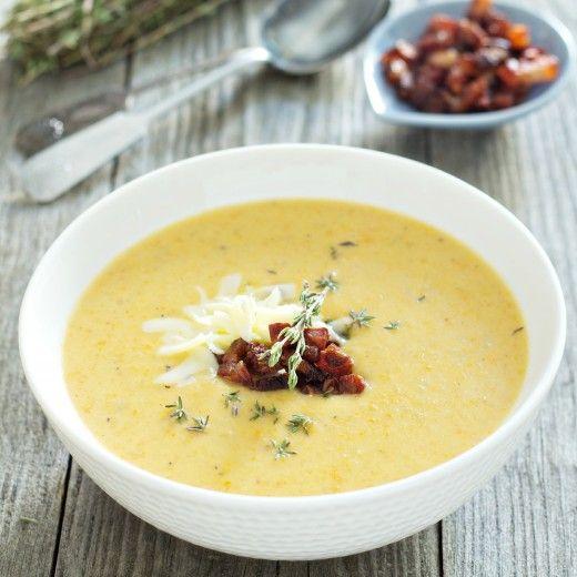 Рецепт - Картофельный суп-пюре с сыром и беконом