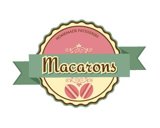 Sweet Macarons Logo design by dalia - This logo is ideal for bakery, cake shop, cupcake shop, food blog, confectionery, dessert catering service, patisserie shop or factory, dessert recipe site, pastry shop, yogurt shop, Cafe #sweet #baking #bakery #logo #design #BrandCrowd