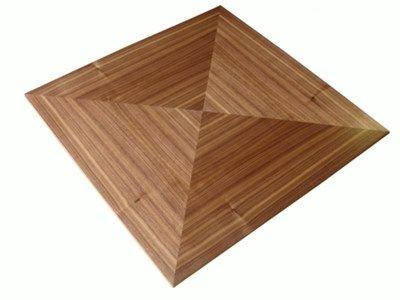 Lovely TT064 Description: Walnut Veneer Table Top With Quartered Panel Detail