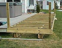 How To Extend An Existing Deck, Expand An Old Deck, Make A Deck Bigger By Adding More Posts And Joists