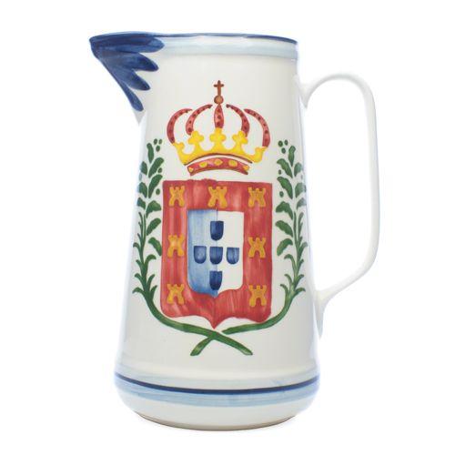 Bilha alta pintura brazão português • 13x22cm 1750ml • Large pitcher Portuguese blazon painting
