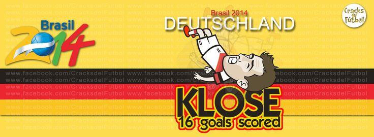 Miroslav Klose Máximo anotador en Copas del Mundo de la FIFA