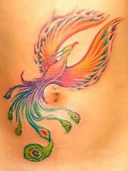 Colorful Phoenix Tattoo I really like this one.
