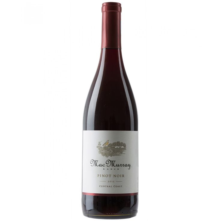 Vino MacMurray Ranch elaborado con uva pinot noir de cuerpo sedoso con sabores a cerezas complementados por notas a rosas y roble con un final balanceado.