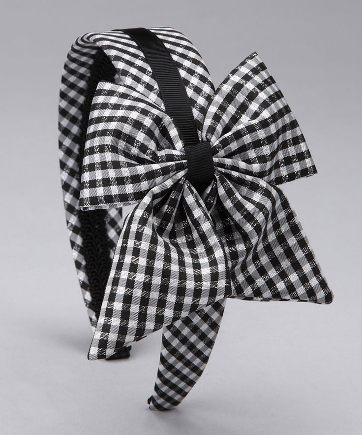 Black Gingham Bow Headband | Daily deals for moms, babies and kids