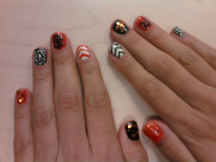 22 best sf giants nails images on Pinterest | Sf giants nails, Nail ...
