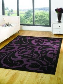 House Additions Polean Purple Black Area Rug I Love Purple Rugs