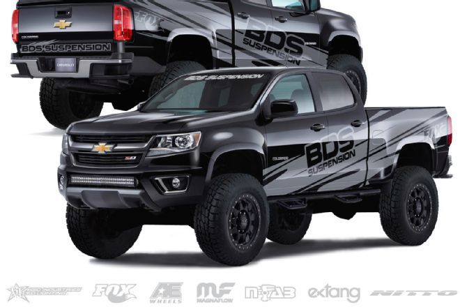 BDS Suspnesion 2015 Chevy Colorado Z71 SEMA Show 2014 Build Front ...