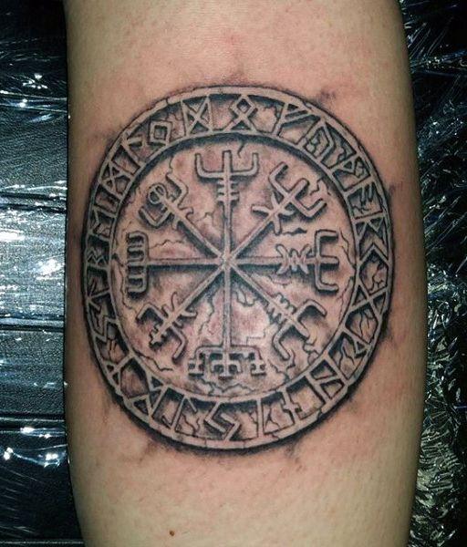 Cool Men's Viking Tattoo Forarm