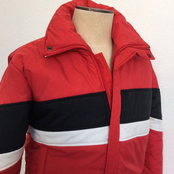 Red Ski Jacket Ski Jacket Men Retro Ski by RetroResaleSanDiego