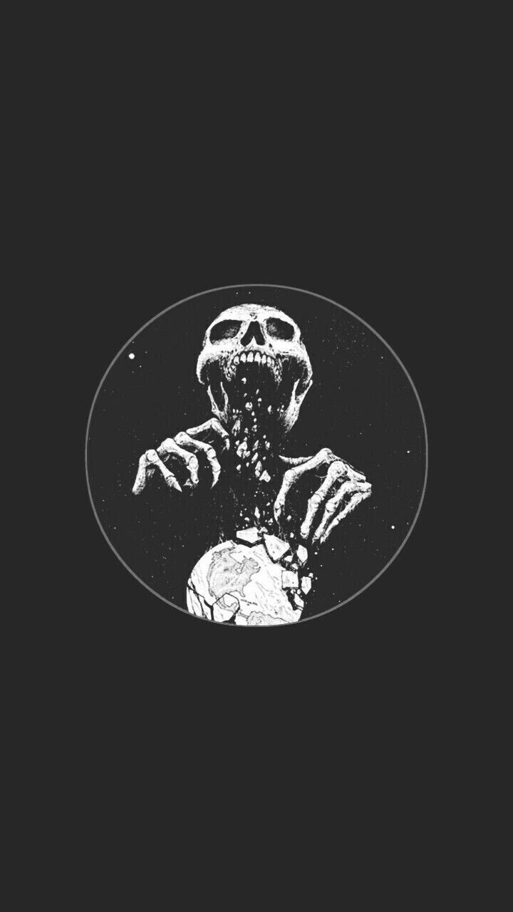 Pin By Ashlee Jane On Walls Black Skull Wallpaper Skull Art Art