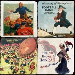University of Pennsylvania Marble Coaster Set - Vintage Sports