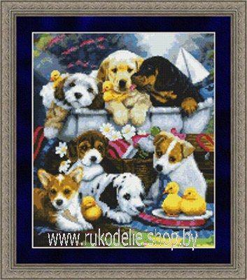 Набор для вышивки крестом Kustom Krafts 9806 Купание