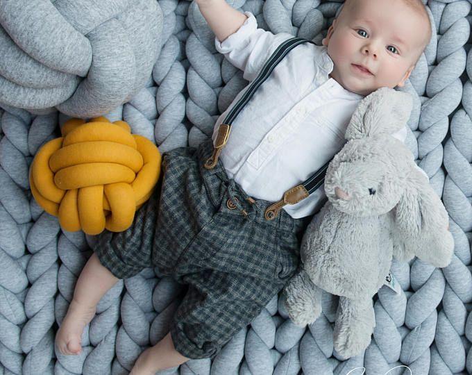 Grobstrick Knoten Krabbeldecke, Teppich, sensorische Matte, Spielzimmer Matte, Baby Spielmatte, Kleinkind, Kinderzimmer Dekor, Kinderzimmer, gestrickte Krabbeldecke, Foto-prop