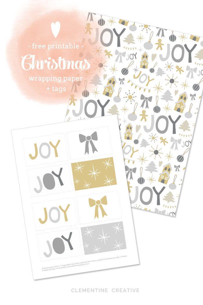無料で印刷可能なクリスマス包装紙やタグ