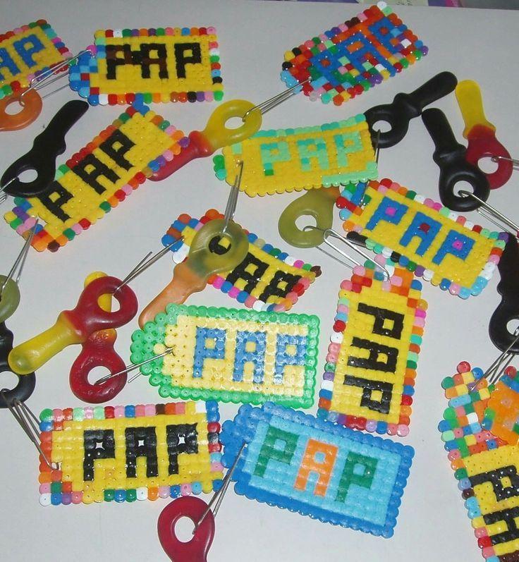 Sleutelhanger met strijkkralen - ook leuk voor vaderdag!