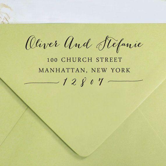 Custom Return Address Stamp, Self Inking Address Stamp, Custom Rubber Stamp…