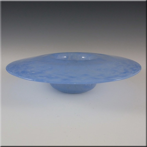 Nazeing Clouded Mottled Blue Bubble Glass Posy Bowl £24.99