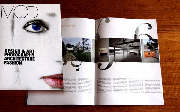 like the use of the image inside the numbers. good white space    Modern Design Magazine issue 13, July 2008. topdesignmag.com