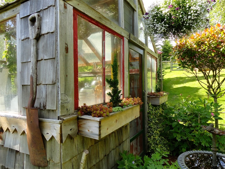 Little Hill Farm. Greenhouse, antiques, etc. Saw this in Where Women Create. ~ 693 Mox Chehalise Rd, McCleary, WA