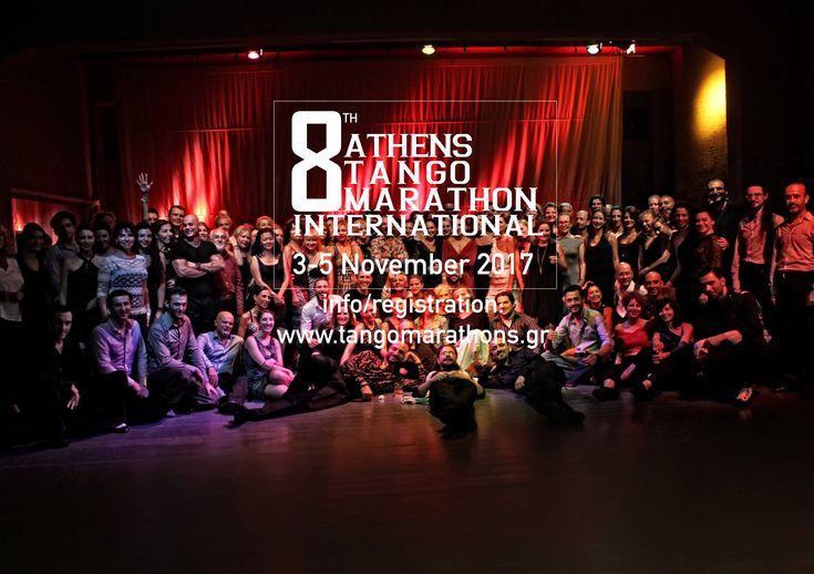 Καλωσήρθατε στο 8th International Athens Tango Marathon!!!! Ένα μακρύ Σαββατοκύριακο σχεδόν συνεχούς χορού Η Αθήνα είναι μια ευρωπαϊκή ιστορική πόλη και ένας σπουδαίος προορισμός τάνγκο, διάσημος για το προηγμένο επίπεδο χορευτών τανγκό....!!!!!...
