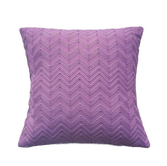 Magenta Pillow Cover Knit Fabric  Deep Mauve Purple Cushion