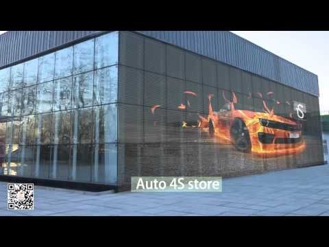 Auroled Transparent led screen display glass led display - YouTube