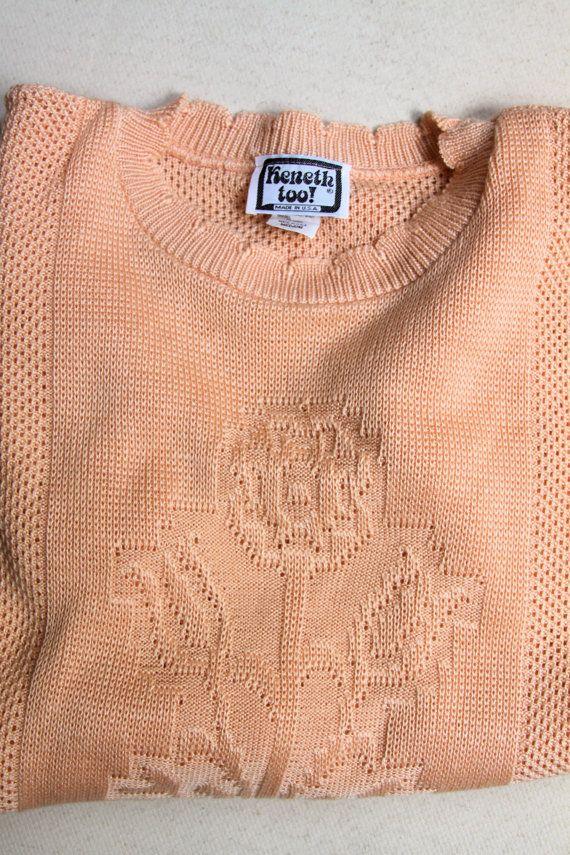 vintage 1980's short sleeved knit top