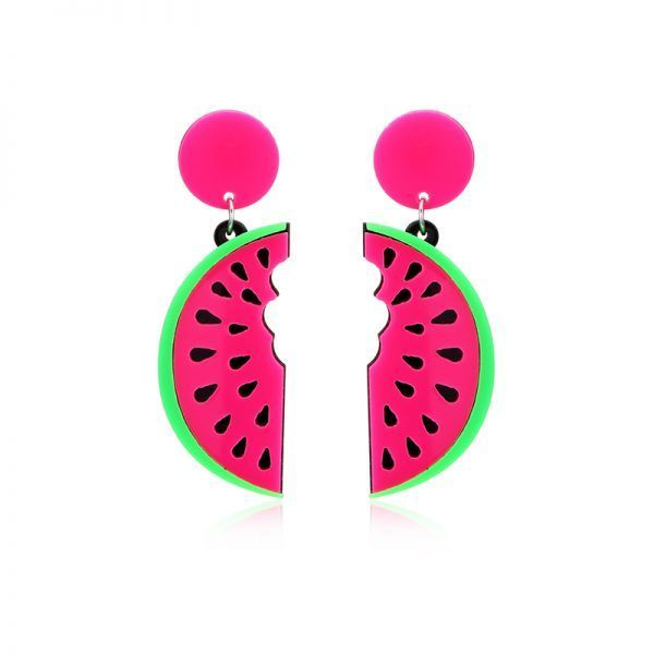 Earrings Red Women 8217 S Cute Fruit Watermelon Acrylic Ear Stud