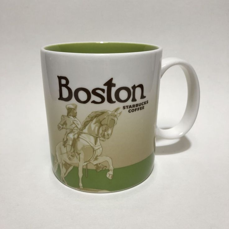 Starbucks Coffee Boston City U.S. Collectors Series Large 16 Oz Mug Cup 2010 #Starbucks