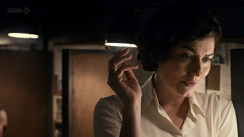 anna chancellor in The Hour