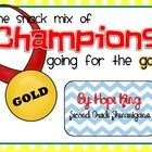 This is a perfect beginning of the year activity/gift to get your champions movitated and excited about a new year! ...: Years Activities Gifts, Grade Shenanigan, Schools Ideas, Years Snacks, Years Activity Gifts, Teacher Ideas, Snacks Ideas, New Years, 2Nd Grade