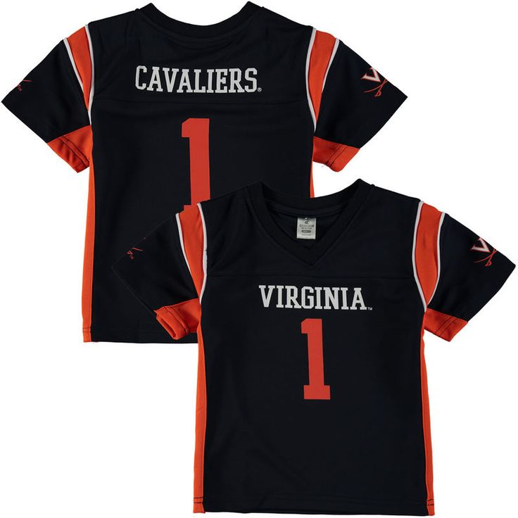 1 virginia cavaliers colosseum youth football jersey navy .
