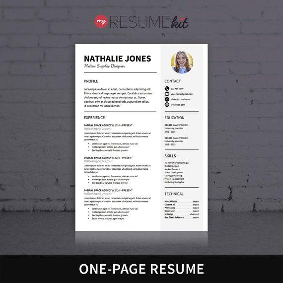 7 best The Elegant Resume Collection Bundle images on Pinterest - elegant resume template