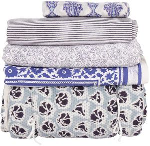 Paisley collection bedding - blue.