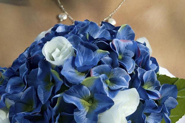 Blue Iris Bridal Bouquet