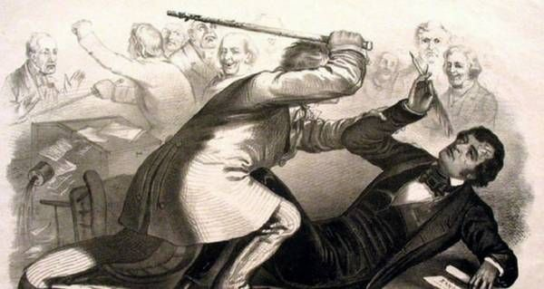 Though civil unrest had been brewing for years, many historians claim Preston Brooks' caning of Charles Sumner set the Civil War in motion.