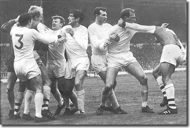 Fighting at the 1969 League Cup Final between Leeds United and Arsenal at Wembley - Dirty Leeds, Dirty Leeds...