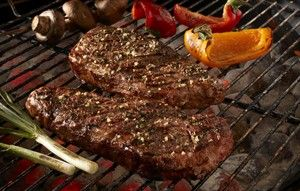Garden Herb Top Loin Steaks -- Make a rub from thyme, oregano, lemon and garlic for big flavor on Strip steak.